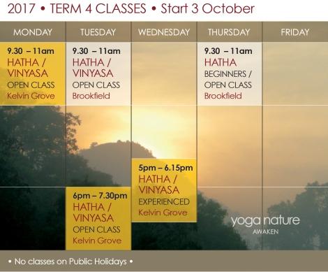 YN_2017 Timetable T4_Yoga Nature Classes Final
