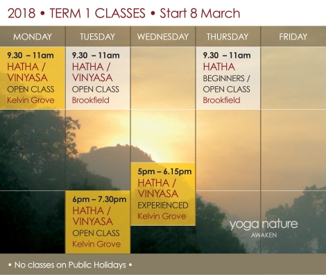 YN_2018 Timetable T1_Yoga Nature Classes Final