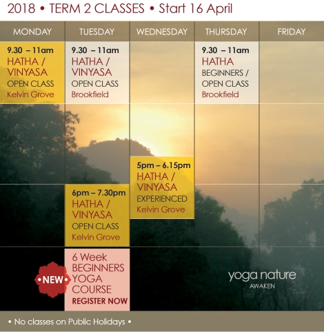 YN_2018 Timetable T2_Yoga Nature Classes Final