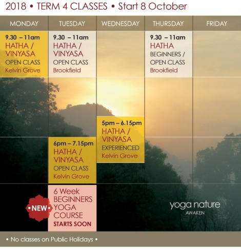 YN_2018 Timetable T4_Yoga Nature Classes Final