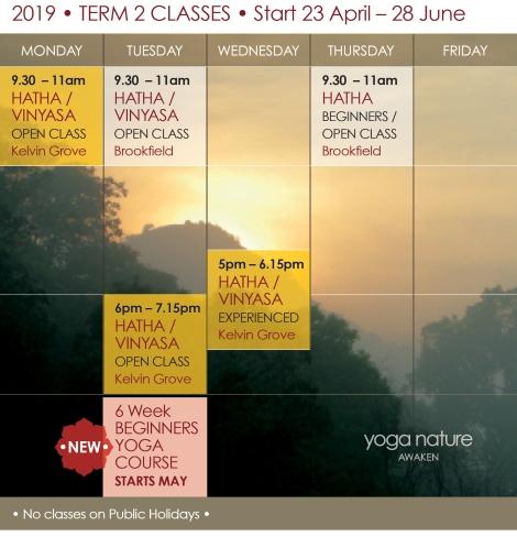 YN_2019 Timetable T2_Yoga Nature Classes Final F